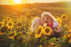 Mom and daughter in the field of sunflowers 6 Month Pictures, Family Pictures, Couple Photos, Sunflower Field Photography, Mother Daughter Photography, Holiday Photography, Sunflower Fields, Fall Photos, Sunflowers