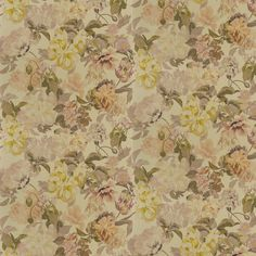 An elegant wallpaper design, featuring a trailing pattern of painterly effect stylised flowers, including daisies and poppy heads. Shown here in the metallic gold colourway. Other colourways are available. Please request a sample for a true colour match. Wide width product. Designers Guild Wallpaper, Designer Wallpaper, Wall Candy, Colour Match, Gold Wallpaper, Delft, Metallic Gold, Daisies, True Colors