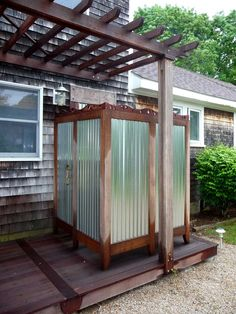 Unusually cool outdoor shower