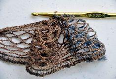 Crochet Ruffle Scarf