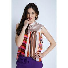 BLUZA DAMA Sleeveless Blouse, Blouses For Women, Hemline, Designers, Accessories, Clothes, Fashion, Outfits, Moda