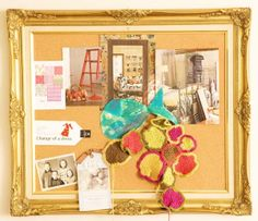 Bulletin board DIY for an office or work station