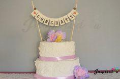 Congrats  Wedding Cake Topper Mini Bunting by inspiredcompany4u