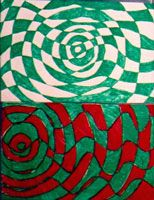 Did this project during student teaching, except did it with cut paper instead of wasting tons of markers. Looked awesome! School Art Projects, Art School, School Life, Asymmetrical Balance In Art, Op Art Lessons, Balance Art, Art Classroom, Classroom Ideas, Art For Kids