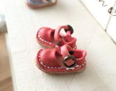 Cuero real: sandalias de Blythe /púrpura/ por Amabiledoll en Etsy