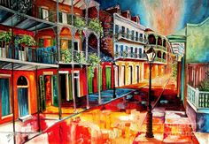 Late On Royal Street Painting