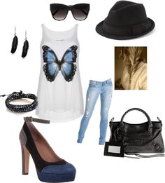 """""""butterfly:)"""" by shopahaulica on Polyvore"""