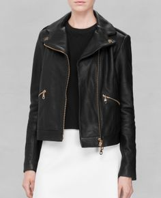 Thaaaank you! A kick-ass leather jacket with GOLD details. Hallelujah! & Other Stories F/W 2014