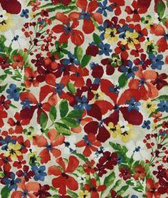 Robert Allen @ Home Floral Sonata Calypso Fabric - $18.55   onlinefabricstore.net