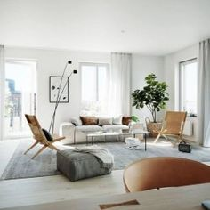 Scandinavian modern minimalist interior design - Furniture - architecture The decorations Interior Design Furniture, Interior Design Living Room, Furniture Design, Living Room Scandinavian, Contemporary Furniture Design, Modern Interior Design, Scandinavian Decor Living Room, House Interior, Modern Minimalist Interior