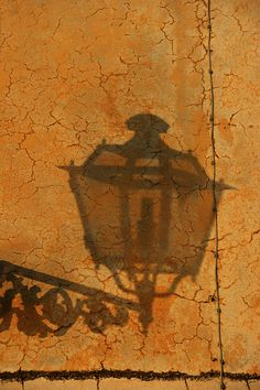 Lamp shadow by GillyWalker, Italy, via Flickr