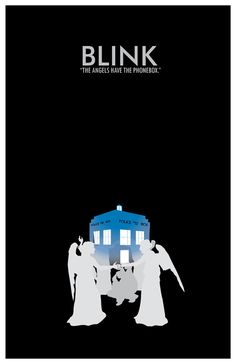 "Doctor Who minimalist posters by Christian Petersen ""The Angels Have The Phonebox"" ♥♥"