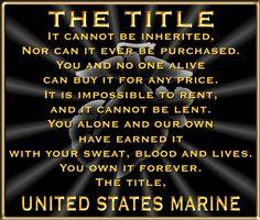 Marine forever