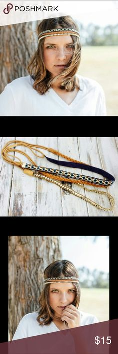 SALE ITEM! Bohemian Headband, Headband Ser This listing is for a set of three. Festival ready headband. Boho chic headband. Elastic back. Very comfortable and lightweight. Brand New! Accessories Hair Accessories