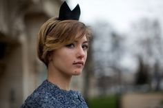 On The Street…Grand Palais, Paris. We find a French bunny from the Sartorialist. Somebunny loves this.