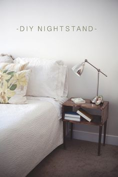 CB and J: diy nightstands-- includes link to online source for purchasing legs.