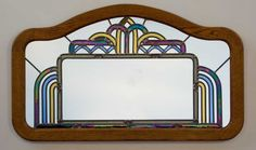 Another example of some Art Deco style work being created today. Art Deco Borders, Art Deco Mirror, Mirror Mirror, Method Homes, Home Decor Bedroom, Bedroom Ideas, Eclectic Style, Art Deco Design, Art Deco Fashion