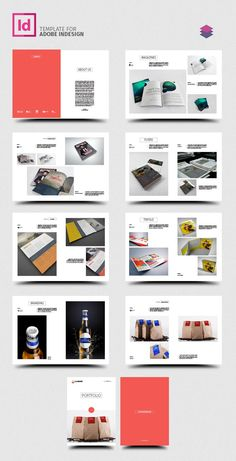 free soft and clean square indesign brochure template free