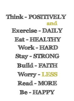 I love how think positively is first