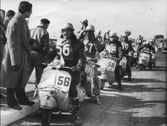 Vintage scooter race : Vespa rallye race in Paris in 1955 : one of the first ones : through Belgium, North of France, Paris 17 to 19 may. is Roger Dambron (. my father), from Boulogne sur mer vespa association Motor Scooters, Vespa Scooters, Course Vintage, Vespa Vintage, Motos Vespa, Vespa 150, Piaggio Vespa, Scooter Bike, 4 Wheelers