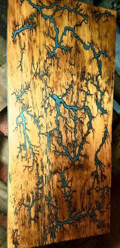 Lichtenberg Wood Burning,,Fractal burn,,wood art