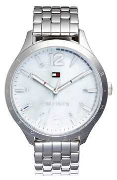 Women's Tommy Hilfiger Mother-of-Pearl Dial Bracelet Watch