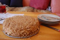 Medovnik - my favorite Czech dessert Czech Desserts, Mexican Food Recipes, Dessert Recipes, Czech Recipes, Thanksgiving Desserts, International Recipes, Vanilla Cake, Cupcake Cakes, Food And Drink