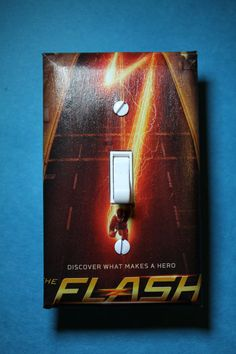 The Flash Comic Book Superhero Light Switch Plate by ComicRecycled