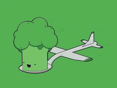 Dribbble - Here comes the Airplane! by Robert Broersma