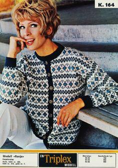 Norwegian Knitting, Old Libraries, 50s Vintage, Vintage Sweaters, Knit Cardigan, Scandinavian, Knitting Patterns, Men Casual, Crochet