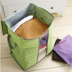 1PC Foldable Non Woven Clothing Storage Bag Blanket Pillow Quilt Sweater rangement Boxes Pouch Organizers Z655