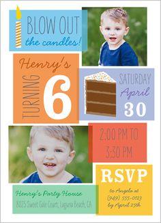 Birthday Blowout Boy 5x7 Stationery Card by Blonde Designs | Shutterfly