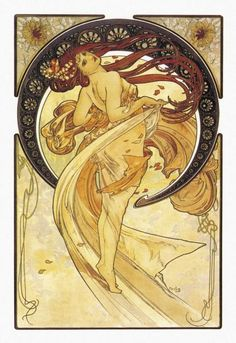 Alphonse Mucha - Dance (Golden), 1898 - art prints and posters