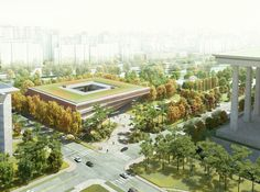 Winning Design for Seoul's National Assembly Smart Work Center and Press Center Unveiled | ArchDaily