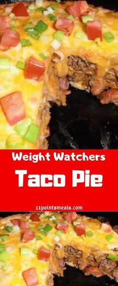 Diet Recipes For Dinner Weight Watchers Taco Pie Recipes, Ww Recipes, Slow Cooker Recipes, Mexican Food Recipes, Dinner Recipes, Healthy Recipes, Free Recipes, Overnight Oats, Sweet Potato Buns