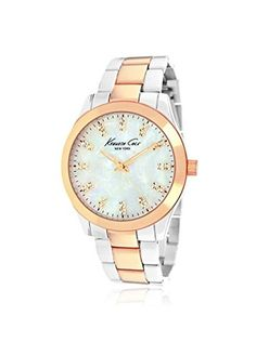 9dbc9067a49 Kenneth Cole New York Three-Hand Brass - Two-Tone Women s watch Water  Resistance   3 ATM   30 meters   100 feet.