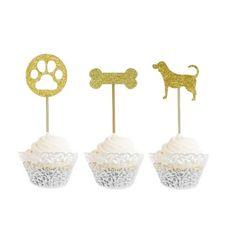 Dit zijn dé perfecte cupcake toppers voor iedere hondenliefhebber! Deze leuke set bestaat uit 12 cupcake prikkers in 'honden thema'. De prikkers bestaan uit een hondenpoot, bot en hond, je ontvangt van iedere prikker 4 stuks. Cupcake Toppers, Glitter, Glow