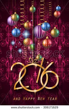 3D HAPPY NEW YEAR 2016