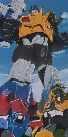 "Transformers Victory Dinoking vs Blacker, Laster and Braver (from ""Attack! Leozack"")"