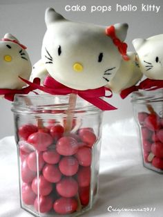 Hello Kitty Cake Pops every little girl's birthday party dream!