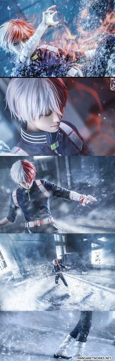 Cosplay Shoto Todoroki - My Hero Academia _-- my favorite character in the show!!