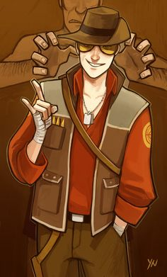 A new Snipes here by Nicca11y.deviantart.com - #TF2 -  Scout in RED Sniper's outfit.