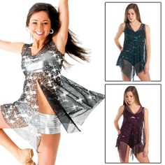 GiaMia dancewear mesh over dress - this could be fun for Zumba; especially if on a Zumba cruise.