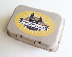 Custom Egg Carton Labels to print at home Mint Turquoise - egg box ...