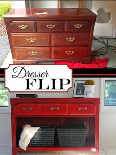 DIY Why Spend More: Dresser flip