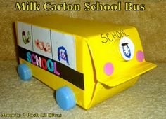 Since the Lil Divas started school this week I thought it would be fun to make a school bus. None of the Lil Divas actually ride a schoo...