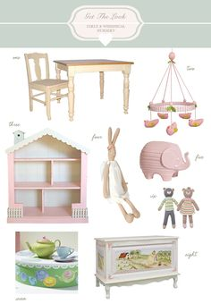 Get The Look of a Girly & Whimsical Nursery @Sarah Nasafi Grayce #laylagrayce #baby #blog