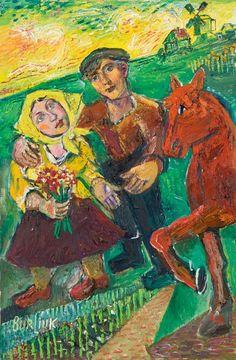 Бурлюк Д. Д. Крестьяне и красный конь