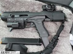 Glock 17 Carbine with accesories