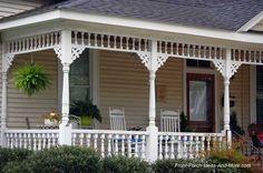 Porch trim makes a porch charming, don't you think. On Front-Porch-Ideas-and-More.com #porch
